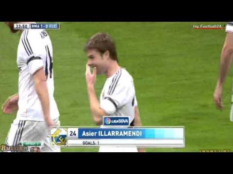 Asier Illarramendi Goal  Real Madrid vs Elche 1-0  La Liga  22022014 HD