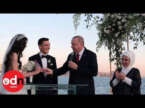 Erdogan is 'best man' at Mesut Ozil's Turkish wedding