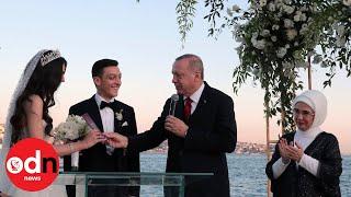 Erdogan is 'best man' at Mesut Ozil's Turkish wedding