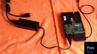 Cómo CONECTAR un Disco Duro IDE, mediante CABLES SATA/IDE USB 2.0, a nuestra COMPUTADORA.