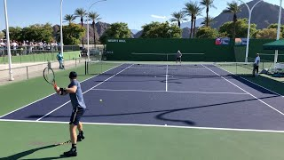 Andy Murray   Target Practice - Indian Wells 2021 (Court Level 4k 60fps)