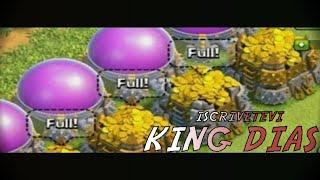 Clash of Clans : Bottino grosso 600 mila Oro elsir Clan 300 - Clash con King Dias