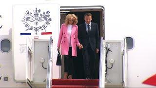 Macron Arrives in US for Trump Meetings