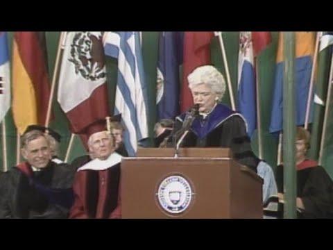 Watch: Barbara Bushs 1990 commencement speech at Wellesley