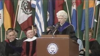 Watch: Barbara Bush's 1990 commencement speech at Wellesley