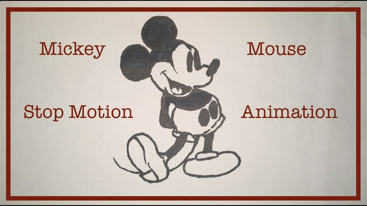Mickey Mouse Drawing Stop Motion Animation Studio B45 Youtube