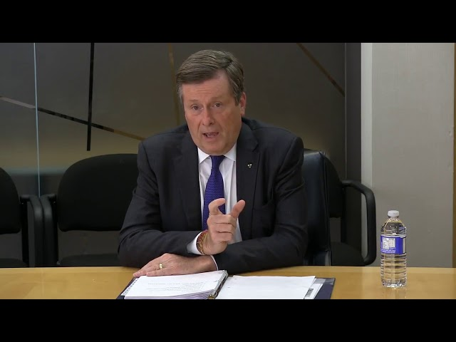 Mayor John Tory talks to the Star's editorial board about the city falling behind on funding for a plan aimed at preventing youth violence.