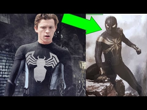 Black Spider-Man Suit CUT From Infinity War EXPLAINED!