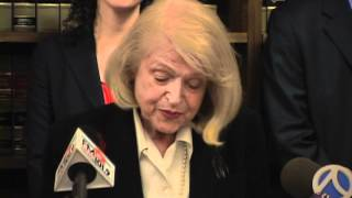 Edith Windsor at NYCLU, ACLU press conference on legal win in DOMA case
