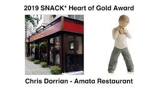 2019 Heart of Gold Award  Chris Dorrian - Amata Restaurant
