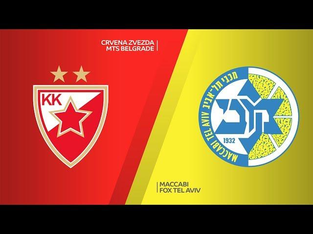 Crvena Zvezda mts Belgrade - Maccabi FOX Tel Aviv Highlights | EuroLeague, RS Round 28