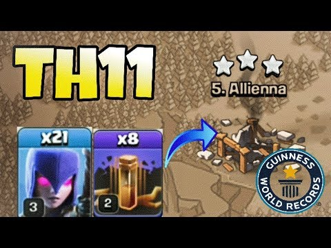 WORLD RECORD TH11 3 STAR ATTACK WITH 21 WITCHES AND 8 EQ. SPELL | UNBELIEVABLE ATTACK | INDIA