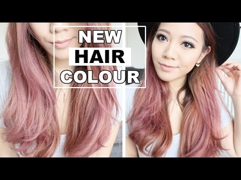 New Hair Colour Full Demo Dark Asian Hair To Pink Youtube