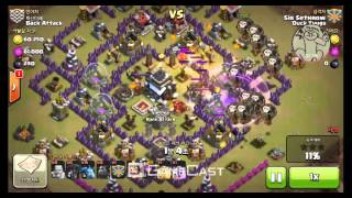 Clash of Clans Attack Strategy Town Hall9 - Mix Unit(Minion, Lava Hound, Balloon)