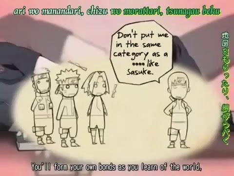 Naruto Shippuden ed 3 with lyrics