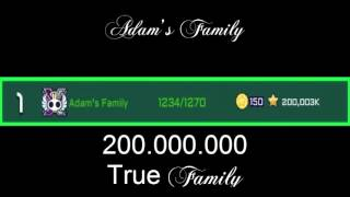 Top 1 of Galaxy Life alliances Adam's Family  200.000.000