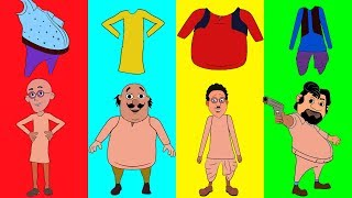Learn Colors Motu Patlu Clothes trolls Chingam Finger Ghasitaram Finger Family Nursery Rhymes
