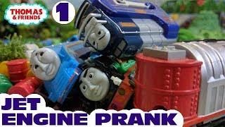 Thomas and friends : Jet Engine Prank 1  | Capsule toy plarail