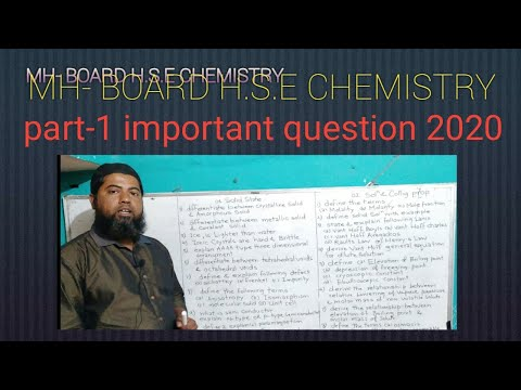 Most Important H.S.E MH- BOARD Chemistry's Question 2020