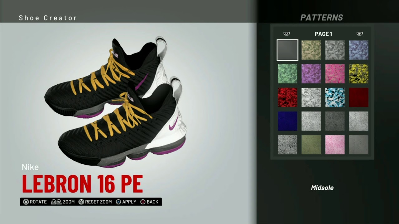 434b13574ec9e NBA 2K19 Shoe Creator