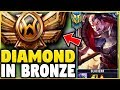 I TOOK MY DARIUS INTO BRONZE 5  DIAMOND DARIUS MAIN VS BRONZE ELO    League of Legends