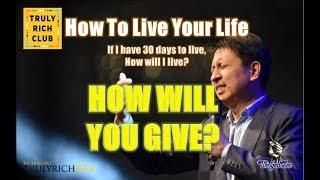 Bo Sanchez TRC - How Will You Give (PowerTalk)