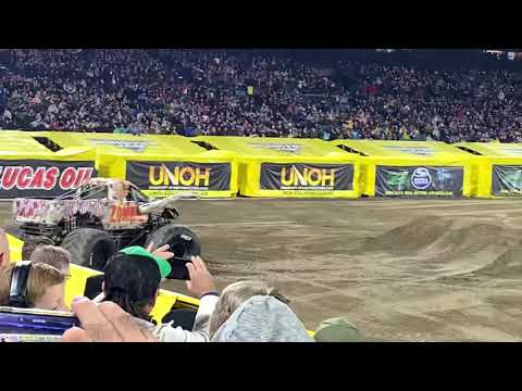 Monster Jam At Anaheim February 22nd Zombie Freestyle