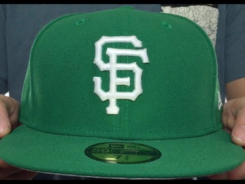 5679800a966e3 SF Giants  St Patricks Day 2  Green-White Fitted Hat by New Era ...