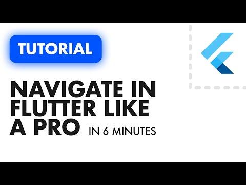 FLUTTER NAVIGATION IN 6 MINUTES - Using the Navigator Only