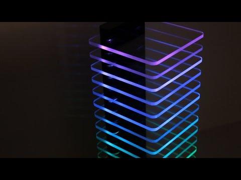 LED Tower – Dark Edition - Modern stylish lamp - Edge lighting acrylic!