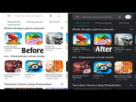 Cara mengaktifkan mode gelap di aplikasi play store