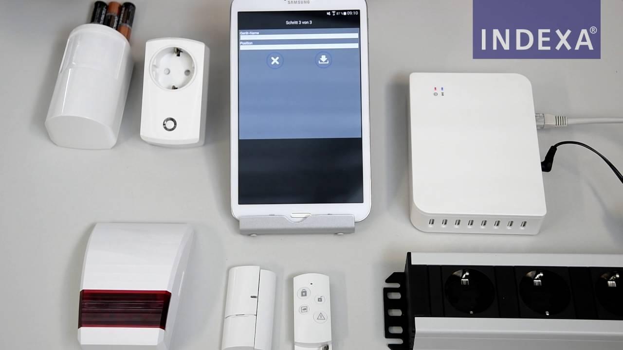 indexa smart security system 700 komponenten einlernen android