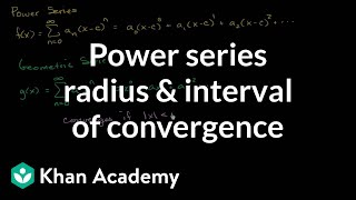 Power series radius and interval of convergence