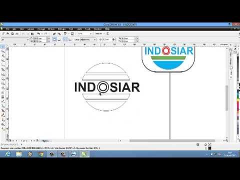 Tutorial CorelDraw - Membuat Logo Indosiar - YouTube