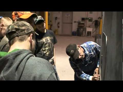 """Clarion County Career Center working on """"Extra Credit"""" - a show-truck Pete 379"""