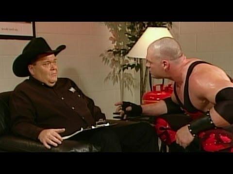 Kane attacks Jim Ross: Raw, July 14, 2003