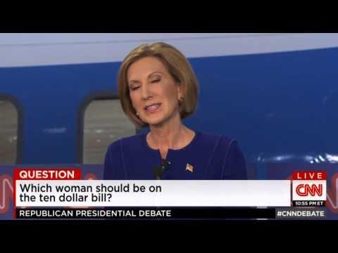 Fiorina Debate 10 Dollar Bill Answer
