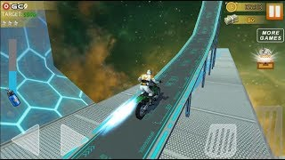 Hill Bike Galaxy Trail World 3 /  Space Bike Racing Action / Android Gameplay FHD #8