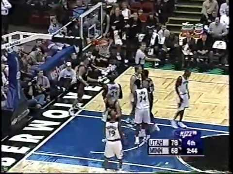 Jazz at Timberwolves - 11/14/03 (Carlos Arroyo 30 pts)