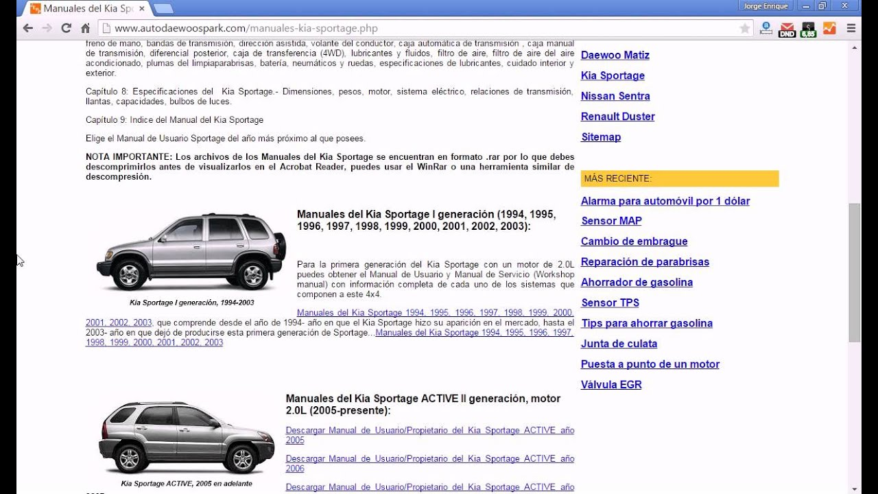 manuales kia sportage youtube rh youtube com kia sportage service repair manual 2005 2005 kia sportage repair manual pdf