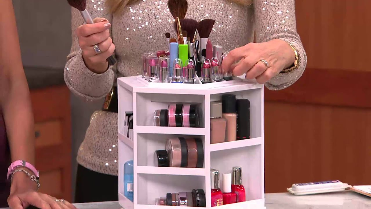 Tabletop Spinning Cosmetic Organizer By Lori Greiner With Lisa Robertson    YouTube