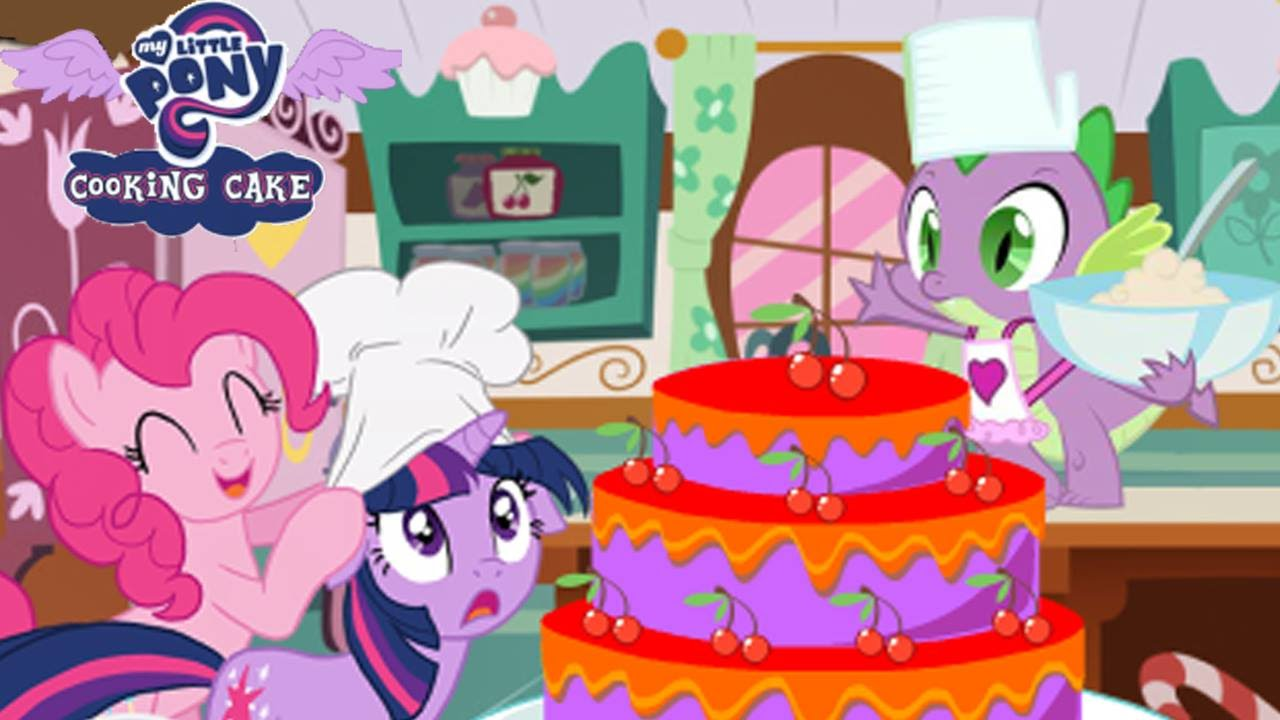 Twilight Sparkle Applejack Cooking Cake Fun Game MLP YouTube