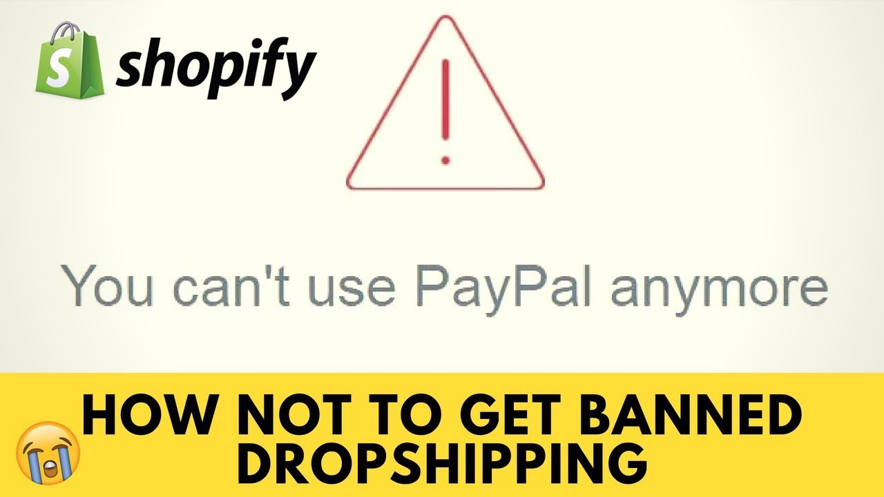 How To NOT Get Banned With Shopify Dropshipping (Paypal & Credit Card  Gateways)