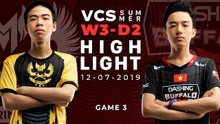 GAM vs DBL HighLights [VCS Mùa Hè 2019][12.07.2019][Ván 3]