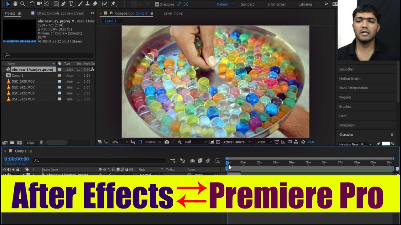 how to use after effects together with premiere pro