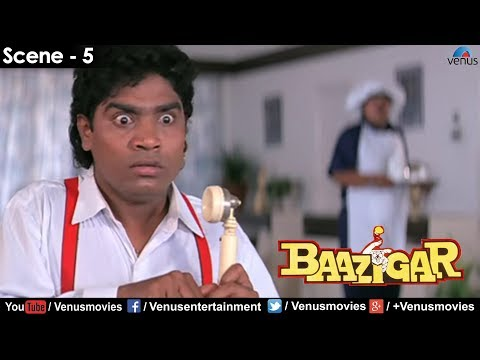 Johnny Lever on phone (Baazigar): Comedy Clip from the Film