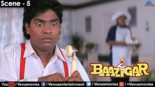 Johnny Lever on phone (Baazigar)