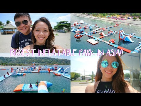 VLOG: BIGGEST INFLATABLE WATER PARK IN ASIA! | Joella ♡