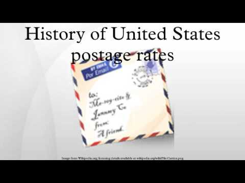 History of United States postage rates