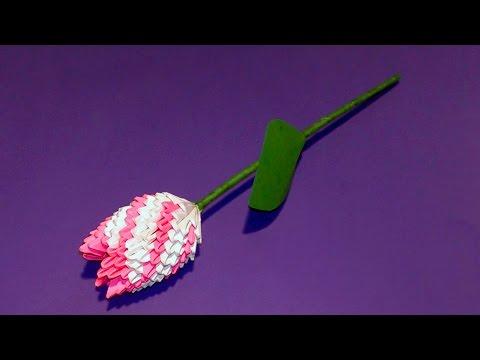 Модульное оригами тюльпан (цветок) мк
